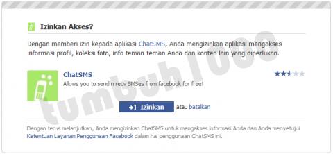 Izinkan Aplikasi ChatSMS