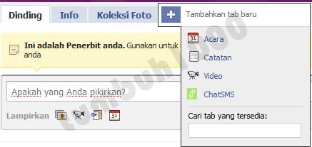 Tambah Tab ChatSMS